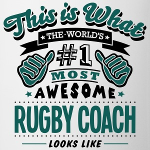 rugby coach world no1 most awesome T-SHIRT - Mug