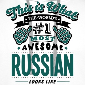 russian world no1 most awesome T-SHIRT - Men's Premium Hoodie