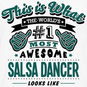 salsa dancer world no1 most awesome T-SHIRT - Men's Premium Longsleeve Shirt