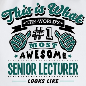 senior lecturer world no1 most awesome c T-SHIRT - Drawstring Bag