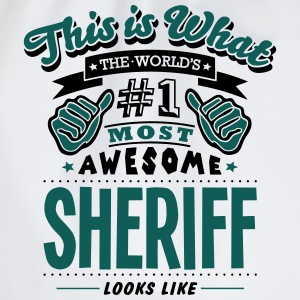 sheriff world no1 most awesome T-SHIRT - Drawstring Bag