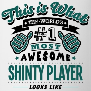shinty player world no1 most awesome cop T-SHIRT - Mug