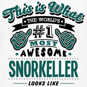 snorkeller world no1 most awesome T-SHIRT - Men's Premium Longsleeve Shirt