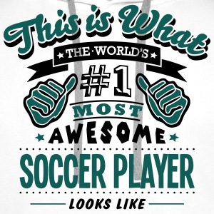 soccer player world no1 most awesome cop T-SHIRT - Men's Premium Hoodie