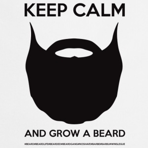KEEP CALM AND GROW A BEARD - Black logo - Tablier de cuisine