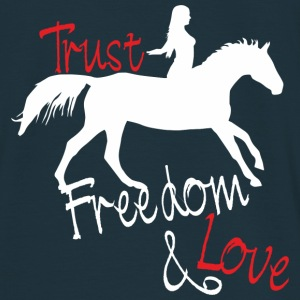 Trust - Freedom - Love Sweat-shirts - T-shirt Homme