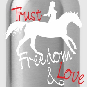 Trust - Freedom - Love Shirts - Drinkfles
