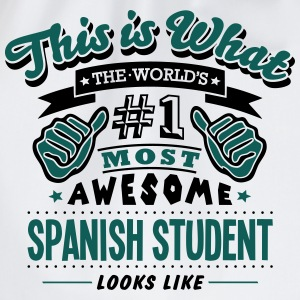 spanish student world no1 most awesome c T-SHIRT - Drawstring Bag