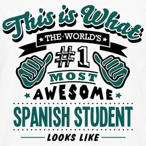 spanish student world no1 most awesome c T-SHIRT - Men's Premium Longsleeve Shirt