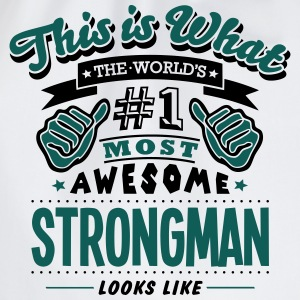 strongman world no1 most awesome T-SHIRT - Drawstring Bag