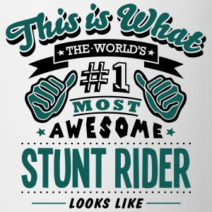 stunt rider world no1 most awesome T-SHIRT - Mug