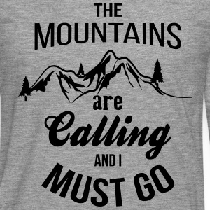The Mountains Are Calling And I Must Go T-Shirts - Men's Premium Longsleeve Shirt