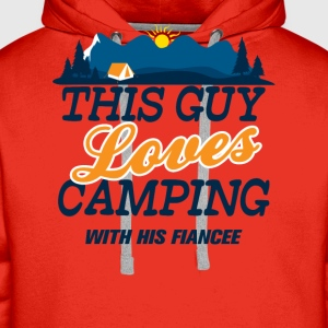 This Guy Loves Camping With His Fiancee T-Shirts - Men's Premium Hoodie