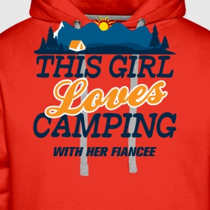 This Girl Loves Camping With Her Fiancee Long Sleeve Shirts - Men's Premium Hoodie