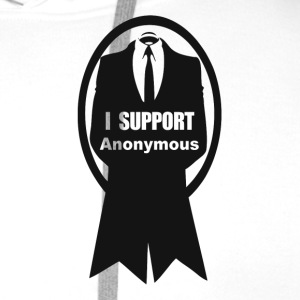 Anonymous support T-Shirts - Men's Premium Hoodie