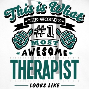 therapist world no1 most awesome T-SHIRT - Men's Premium Hoodie