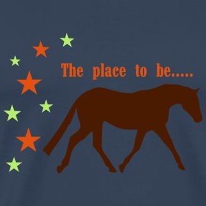 The Pleace to be -- Horse Langærmede T-shirts - Herre premium T-shirt