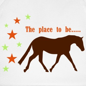 The Pleace to be -- Horse Shirts met lange mouwen - Baseballcap