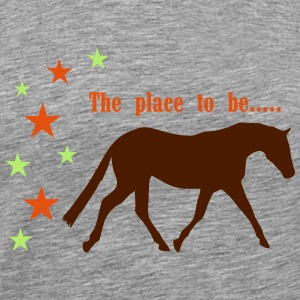 The Pleace to be -- Horse Shirts met lange mouwen - Mannen Premium T-shirt