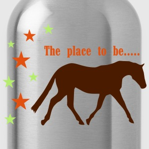 The Pleace to be -- Horse Long Sleeve Shirts - Water Bottle