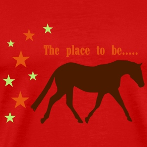 The Pleace to be -- Horse Long Sleeve Shirts - Men's Premium T-Shirt