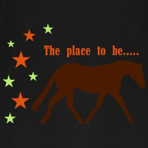 The Pleace to be -- Horse Tröjor - Premium-T-shirt herr