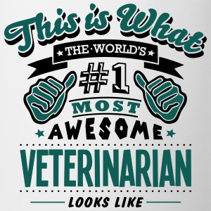 veterinarian world no1 most awesome T-SHIRT - Mug