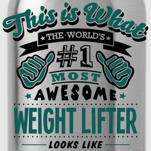 weight lifter world no1 most awesome cop T-SHIRT - Water Bottle