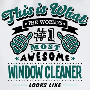 window cleaner world no1 most awesome co T-SHIRT - Drawstring Bag