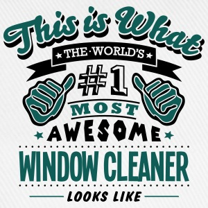 window cleaner world no1 most awesome co T-SHIRT - Baseball Cap