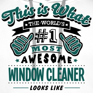 window cleaner world no1 most awesome co T-SHIRT - Men's Premium Hoodie