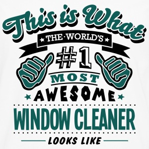 window cleaner world no1 most awesome co T-SHIRT - Men's Premium Longsleeve Shirt