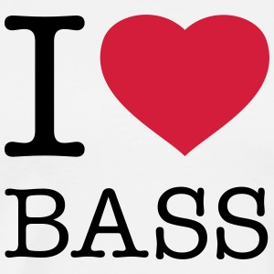 I LOVE BASS - Männer Premium T-Shirt