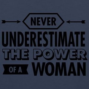 Never Underestimate The Power Of A Woman T-shirts - Herre Premium tanktop