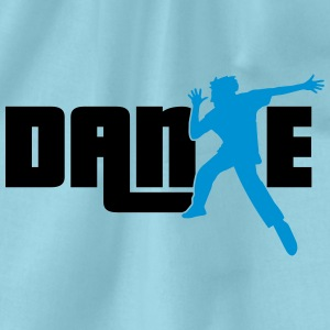 tekst logo ontwerp dance party dance man koele T-shirts - Gymtas