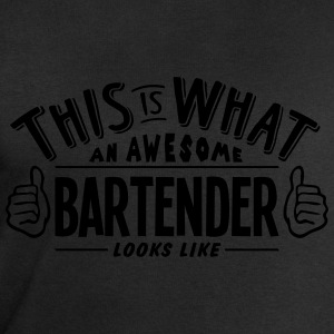 awesome bartender looks like pro design t-shirt - Men's Sweatshirt by Stanley & Stella