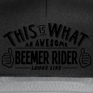 awesome beemer rider looks like pro desi t-shirt - Snapback Cap