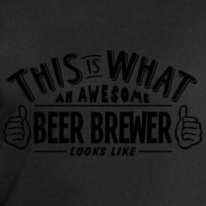 awesome beer brewer looks like pro desig t-shirt - Men's Sweatshirt by Stanley & Stella