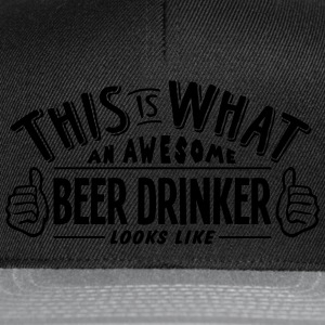awesome beer drinker looks like pro desi t-shirt - Snapback Cap