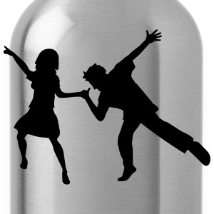 dancing woman man love couple celebrate party girl T-Shirts - Water Bottle