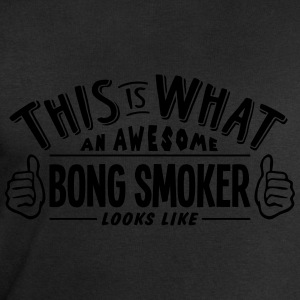 awesome bong smoker looks like pro desig t-shirt - Men's Sweatshirt by Stanley & Stella