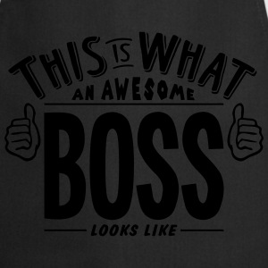 awesome boss looks like pro design t-shirt - Cooking Apron