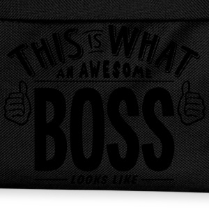 awesome boss looks like pro design t-shirt - Kids' Backpack