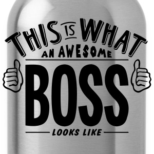 awesome boss looks like pro design t-shirt - Water Bottle