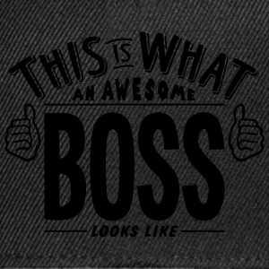 awesome boss looks like pro design t-shirt - Snapback Cap