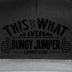 awesome bungy jumper looks like pro desi t-shirt - Snapback Cap