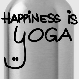 happiness is yoga - Trinkflasche