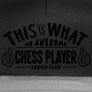 awesome chess player looks like pro desi t-shirt - Snapback Cap