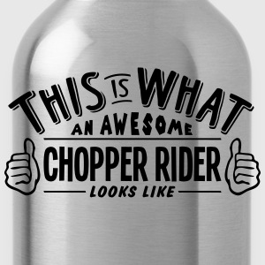 awesome chopper rider looks like pro des t-shirt - Water Bottle