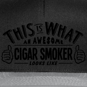 awesome cigar smoker looks like pro desi t-shirt - Snapback Cap